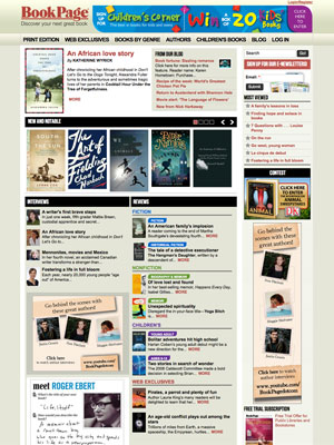 image of bookpage website