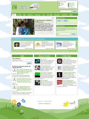 image of wonderbaby website